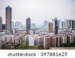 overlooking view of sham shui... | Shutterstock . vector #397881625