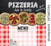 menu design in the pizzeria | Shutterstock .eps vector #397882594