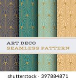 art deco seamless pattern with... | Shutterstock .eps vector #397884871