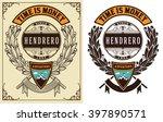 baroque badge. vector template | Shutterstock .eps vector #397890571