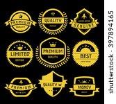labels set of retro vintage... | Shutterstock .eps vector #397894165