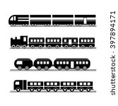 vector modern and vintage train ... | Shutterstock .eps vector #397894171