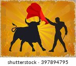 illustration of a bull and a... | Shutterstock .eps vector #397894795