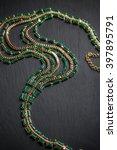 metal feminine necklace with... | Shutterstock . vector #397895791