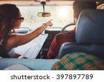 rear view shot of couple... | Shutterstock . vector #397897789