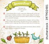 stylish summer card template... | Shutterstock .eps vector #397902481