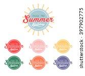 set of retro elements for enjoy ... | Shutterstock .eps vector #397902775