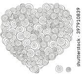 heart shaped pattern for...   Shutterstock .eps vector #397910839