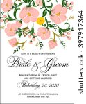 invitation or wedding card with ... | Shutterstock .eps vector #397917364