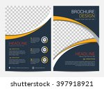 brochure template flyer design... | Shutterstock .eps vector #397918921