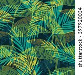 seamless exotic pattern with... | Shutterstock .eps vector #397920034
