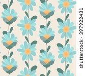 Daisy Flowers Seamless Pattern. ...