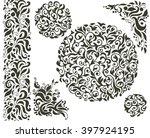 set of hand drawn decorative... | Shutterstock .eps vector #397924195