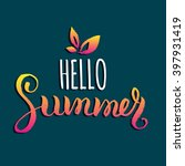 hello summer vector... | Shutterstock .eps vector #397931419