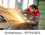 collision repairs service.... | Shutterstock . vector #397931821