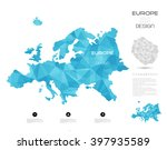 geometric map design  europe   Shutterstock .eps vector #397935589