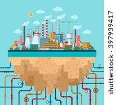 industrial landscape. factory ... | Shutterstock .eps vector #397939417