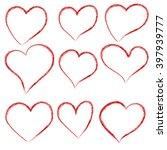 vector hearts set. hand drawn. | Shutterstock .eps vector #397939777