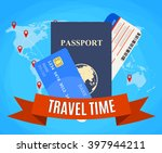 travel and tourism concept. air ... | Shutterstock . vector #397944211
