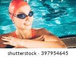female swimmer  portrait of a...   Shutterstock . vector #397954645