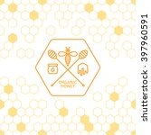 honey label  logo  tag  sticker ... | Shutterstock .eps vector #397960591