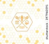 honey label  logo  tag  sticker ... | Shutterstock .eps vector #397960591