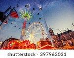 fantastic starry sky on...   Shutterstock . vector #397962031