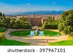 view of the palazzo pitti and... | Shutterstock . vector #397967101