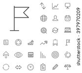 linear research icons set....