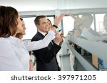 business people sharing their... | Shutterstock . vector #397971205