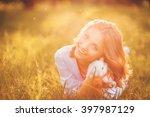 spring girl | Shutterstock . vector #397987129