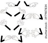 illustration of various hands... | Shutterstock .eps vector #397987834