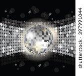 realistic vector disco ball.... | Shutterstock .eps vector #397991044