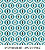 retro geometric seamless... | Shutterstock .eps vector #397994461