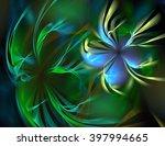Green Beautiful Abstract...