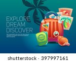 journey. around the world.... | Shutterstock .eps vector #397997161