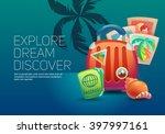 journey. around the world.... | Shutterstock .eps vector #397997161