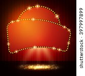 shining retro casino banner on... | Shutterstock .eps vector #397997899