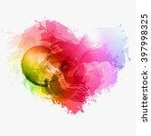 abstract watercolor vector heart | Shutterstock .eps vector #397998325