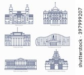 monuments thin line vector... | Shutterstock .eps vector #397999207