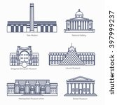 monuments thin line vector... | Shutterstock .eps vector #397999237