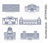 monuments thin line vector... | Shutterstock .eps vector #397999381