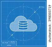 cloud computing blueprint icon  ...