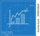 growing bars graphic blueprint... | Shutterstock .eps vector #398003869