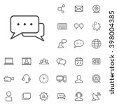linear blog icons set.... | Shutterstock .eps vector #398004385