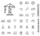 linear construction icons set....