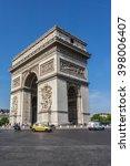 paris  france   june 12  2015 ... | Shutterstock . vector #398006407