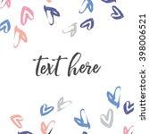 confetti heart border. heart...   Shutterstock .eps vector #398006521