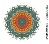 hand drawn mandala in arabic ... | Shutterstock .eps vector #398008561