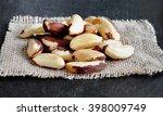 brazil nuts  close up shot  on... | Shutterstock . vector #398009749